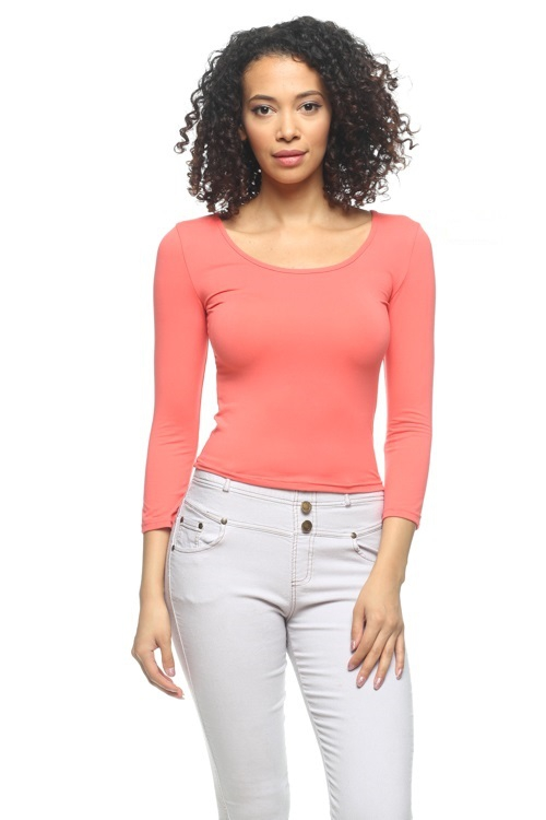 Scoop neck Top - orangeshine.com