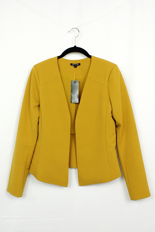 Long sleeve collarless blazer - orangeshine.com