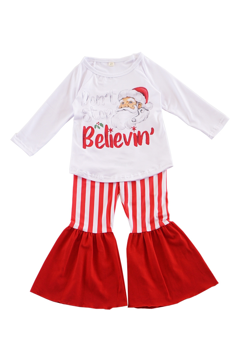 Christmas santa bell pants set - orangeshine.com