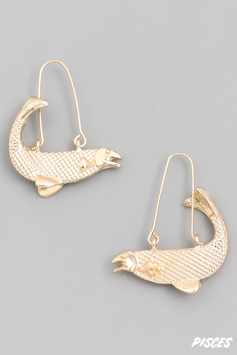 Pisces Zodiac Constellation Earrings - orangeshine.com