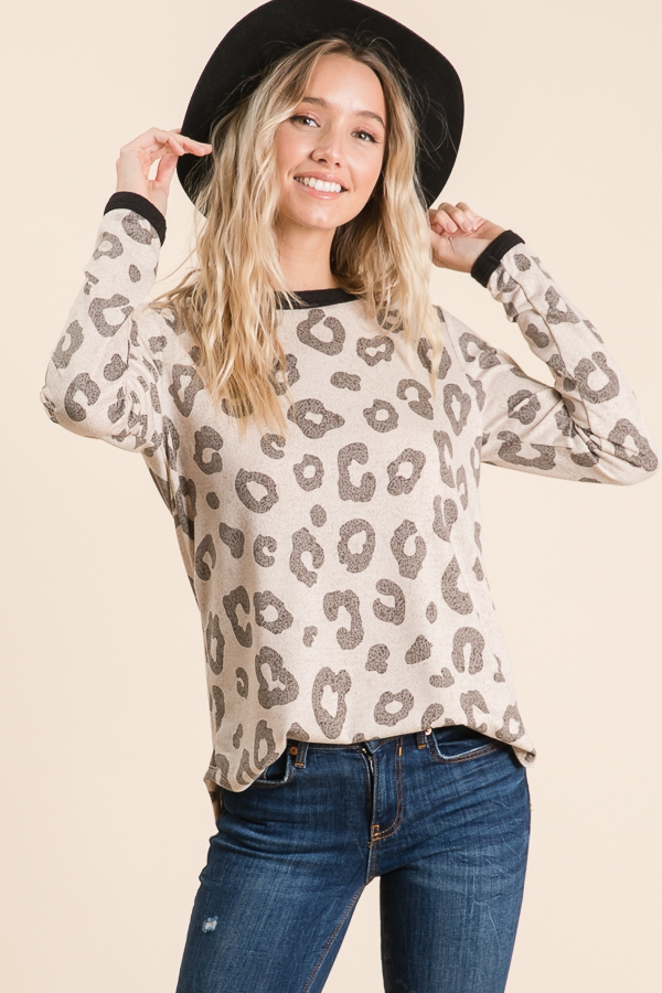 CASUAL ANIMAL PRINT FLEECE - orangeshine.com