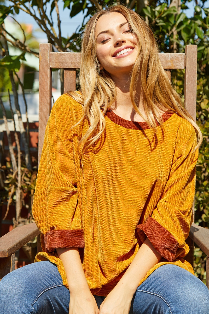 Short Sleeve Solid Knit Sweater  - orangeshine.com