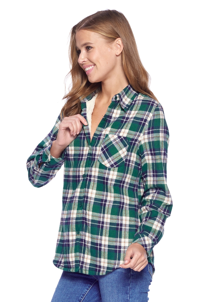 FLEECE LINED PLAID FLANNEL - orangeshine.com