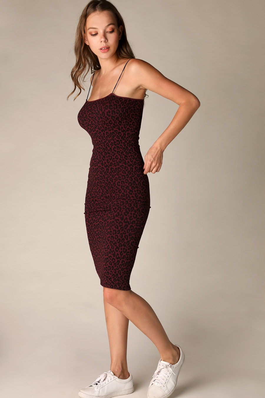 Leopard Midi Dress - orangeshine.com