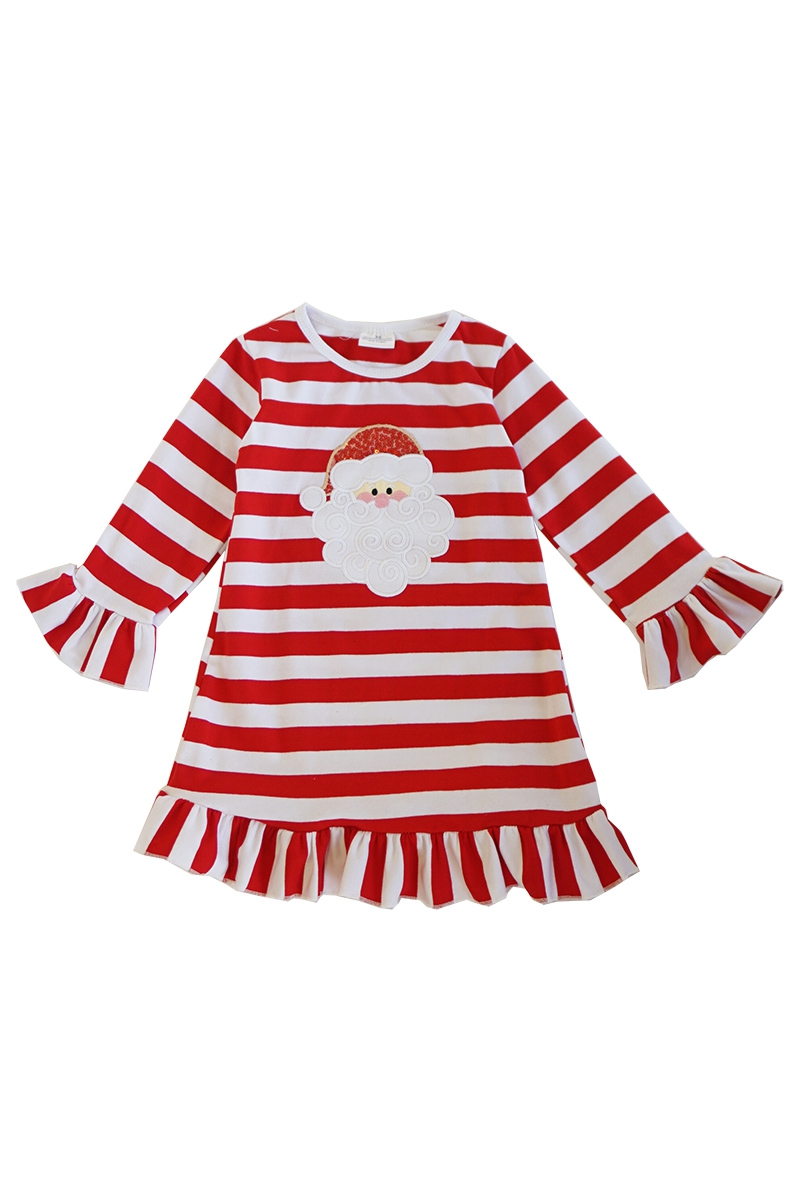 Red strip christmas santa applique - orangeshine.com