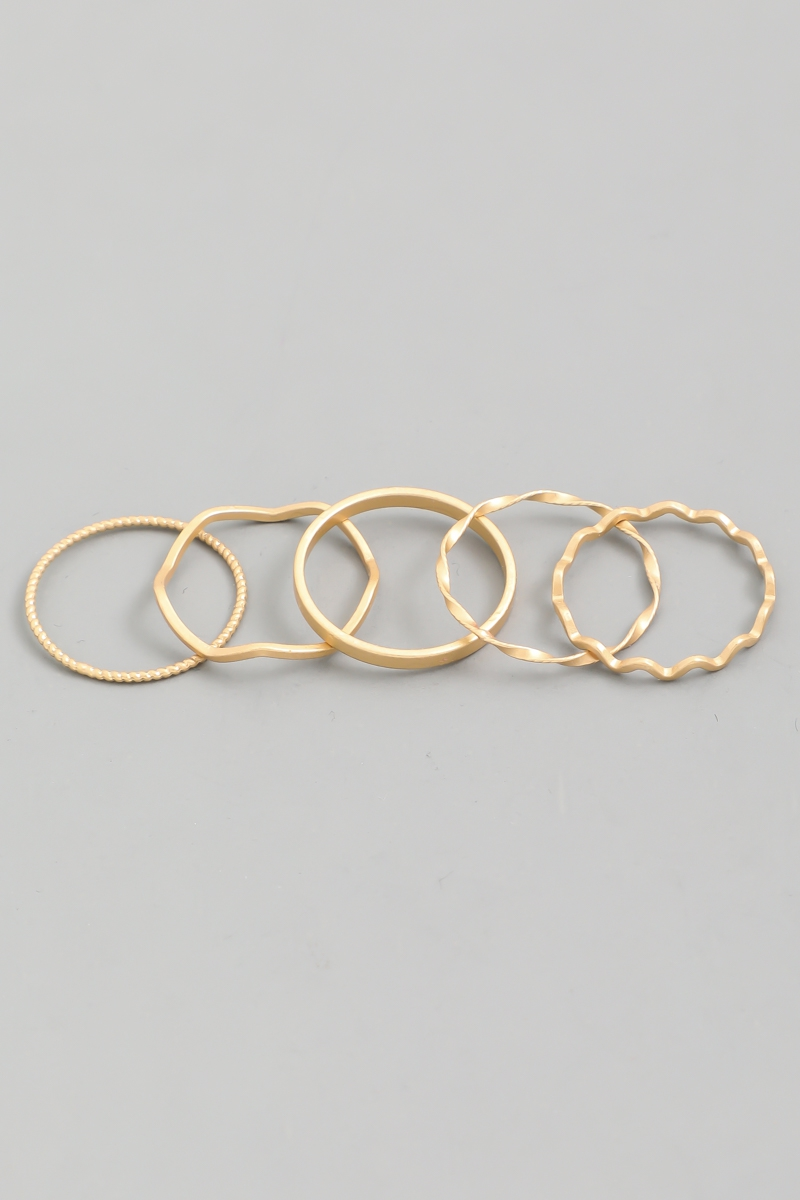 Delicate Zig Zag Ring Set - orangeshine.com