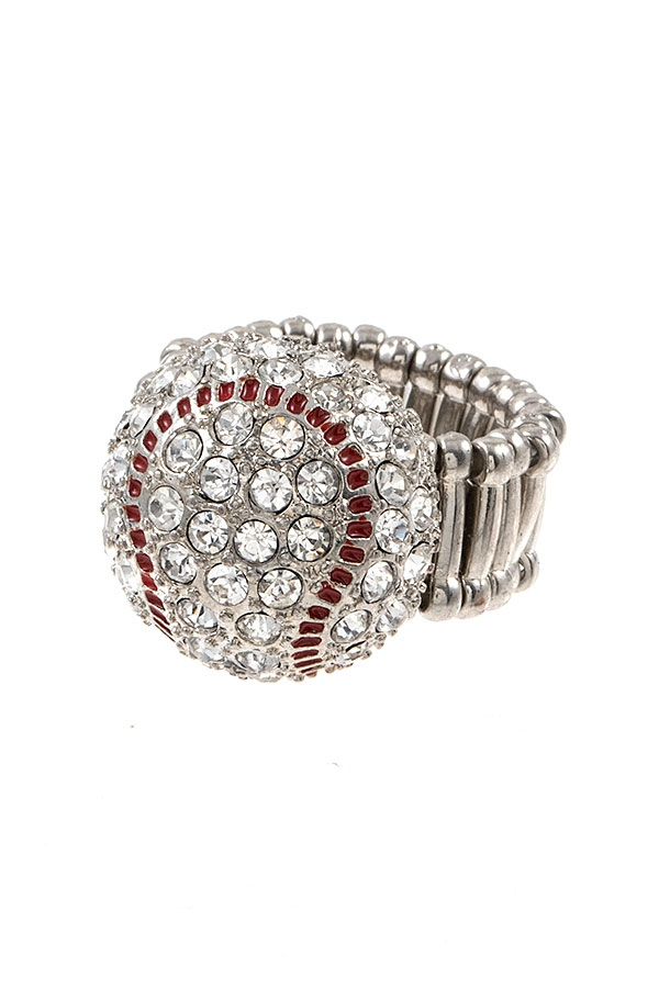 BASEBALL GEM PAVE RING  - orangeshine.com