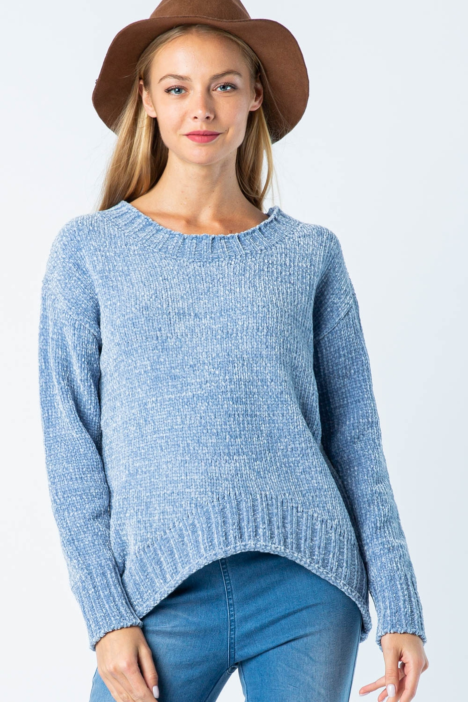 CHENILLE KNIT SWEATER - orangeshine.com