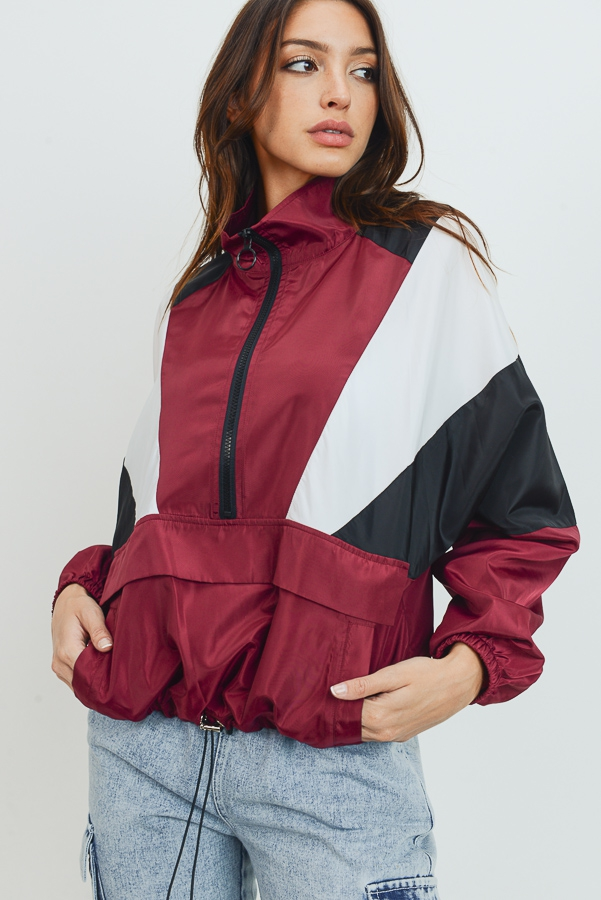 Windbreaker Jacket with Pockets - orangeshine.com