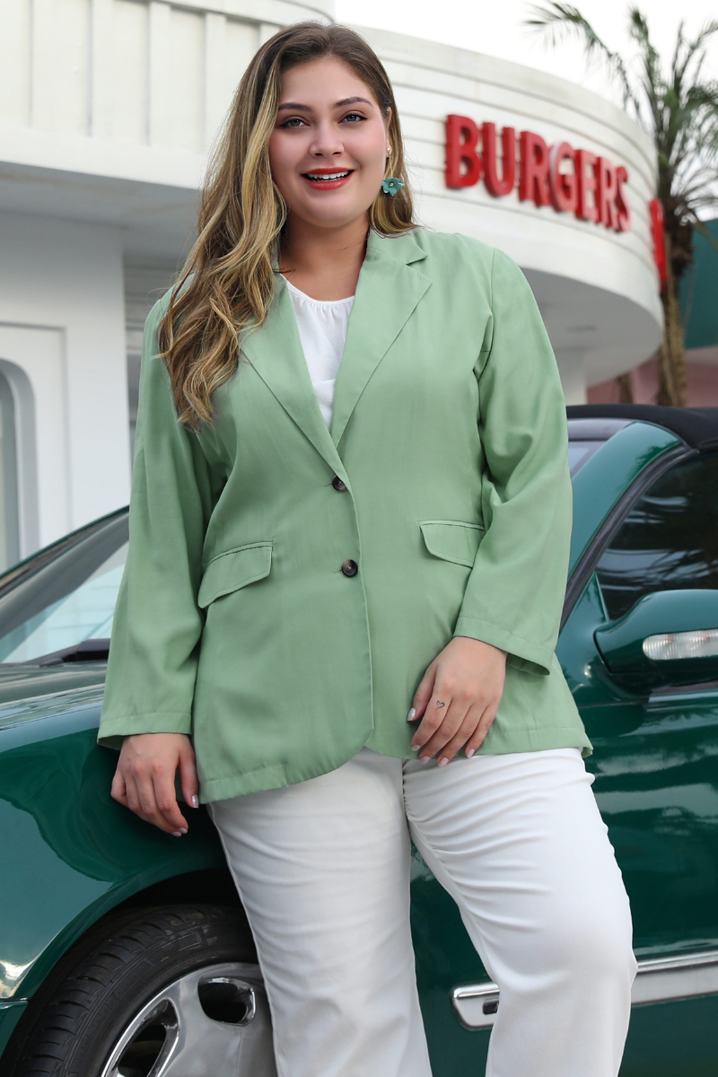 Solid Color Long Sleeve  Jacket - orangeshine.com