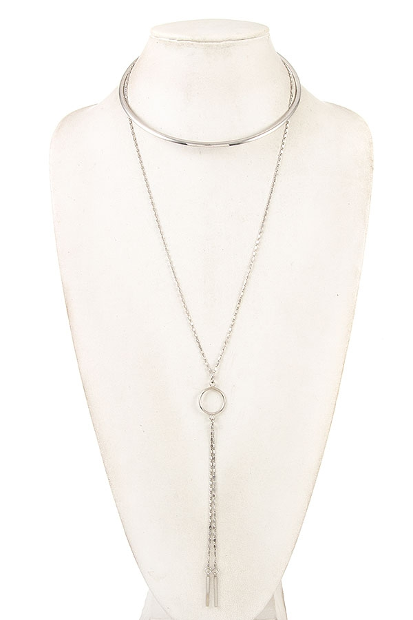 CHOKER CHAIN LINK PENDANT NECKLACE   - orangeshine.com