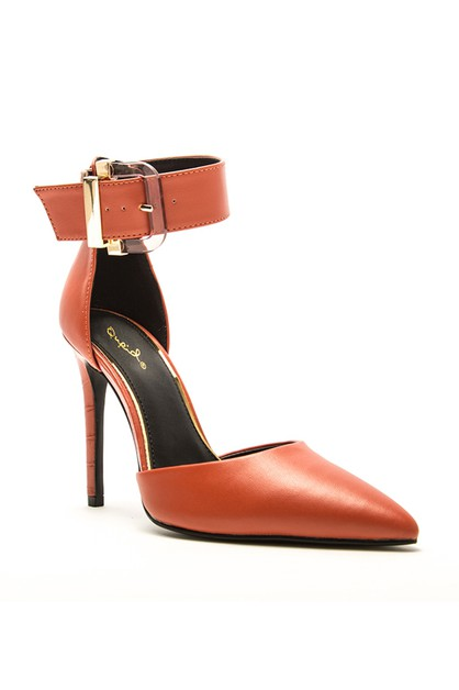 Pointed Toe Stiletto Heel Dress Sand - orangeshine.com