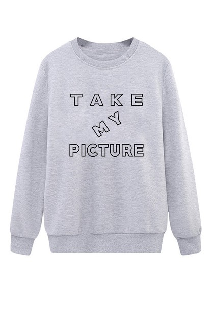 Take My Picture Crew Neck Sweater - orangeshine.com