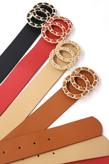 DOUBLE RING METAL BUCKLE belt - orangeshine.com