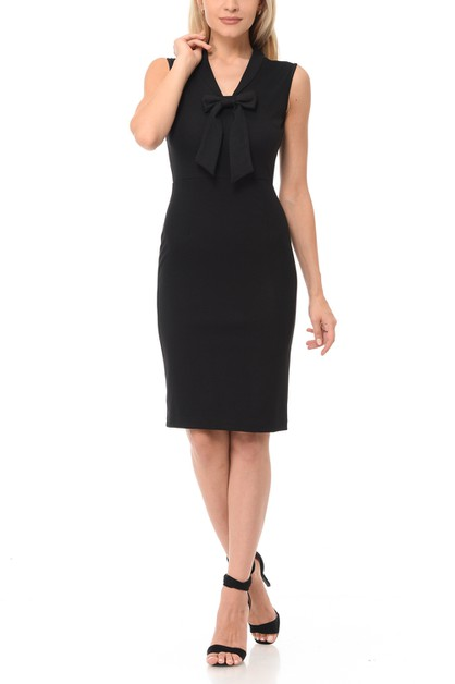 Solid Basic Casual Office Body con D - orangeshine.com