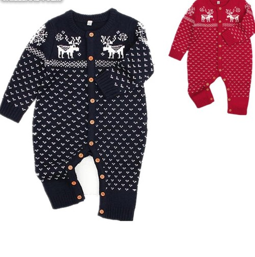 Kids knitted  Deer romper - orangeshine.com