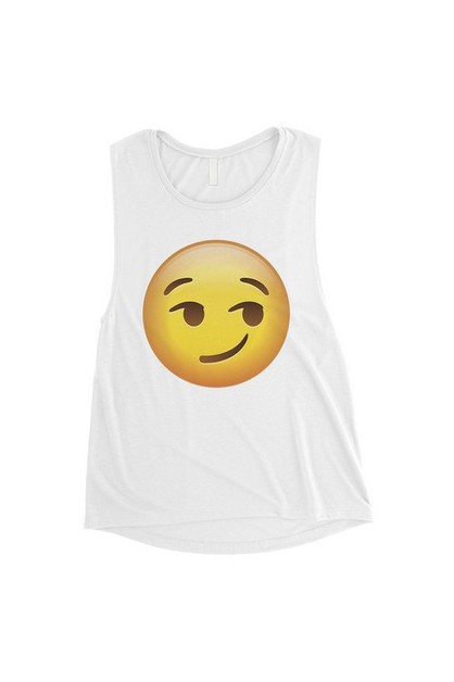Emoji-Smirking Muscle Top - orangeshine.com