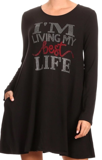 I`M LIVING MY BEST LIFE Tunic - orangeshine.com