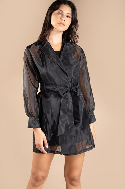 ORGANZA TRENCH COAT - orangeshine.com