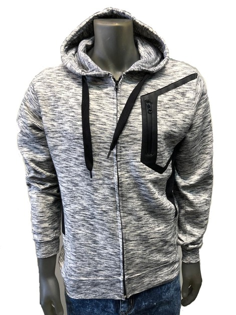 BFH900 MENS ZIPPER FLEECE HOODIE - orangeshine.com