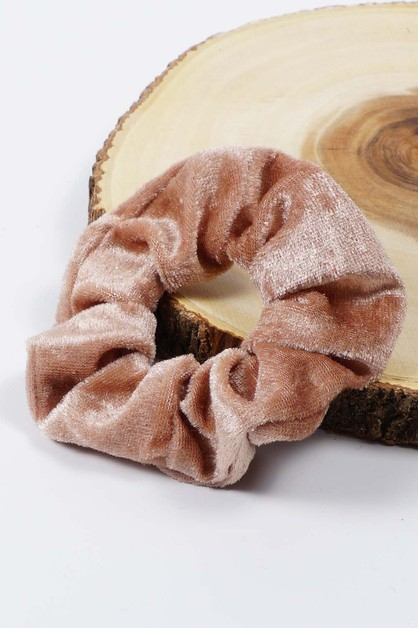 BrownVelvetScrunchies - orangeshine.com