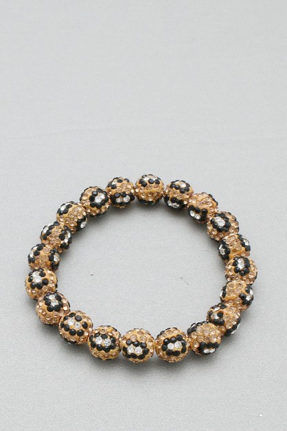 PAVE DISCO BALL STRETCH BRACELET - orangeshine.com