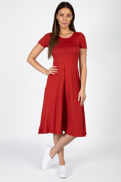 Fit and Flare Midi Dress - orangeshine.com