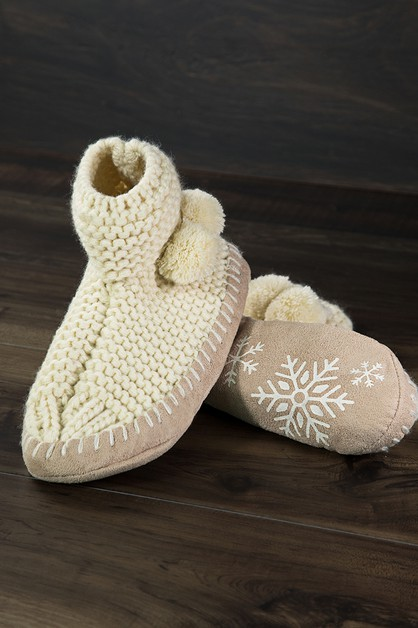 Snowflake Slipper  - orangeshine.com