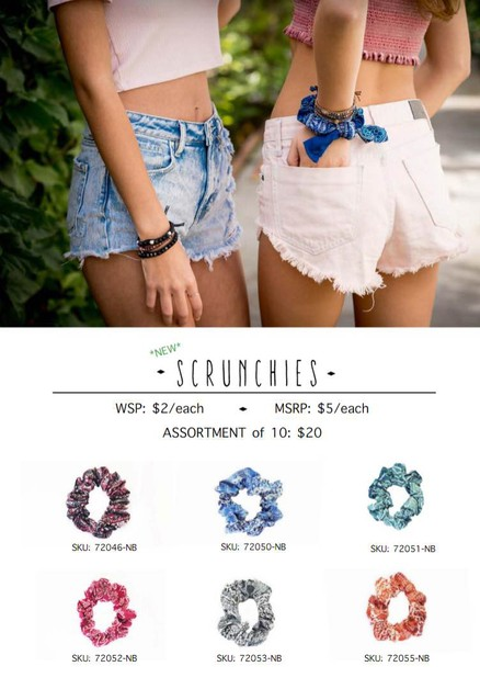 Cotton Scrunchies no bow- 10 pack - orangeshine.com