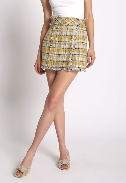 TWEED MINI SKIRT - orangeshine.com