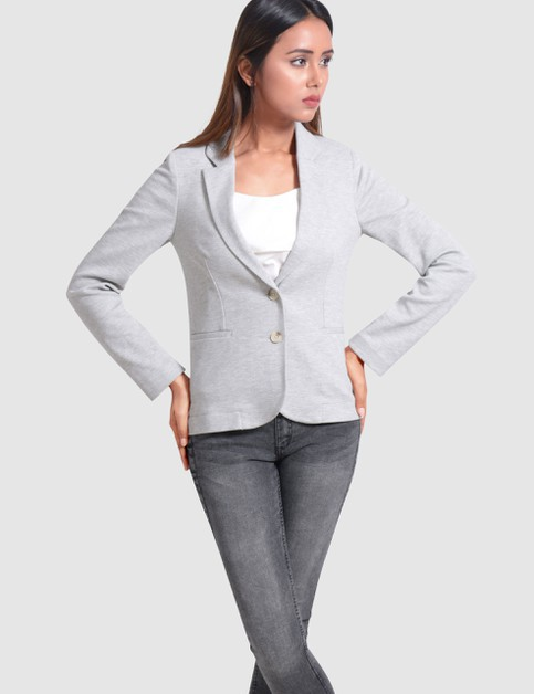 Single Breasted Stretch Blazer - orangeshine.com