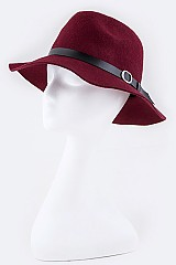 Buckled Leather Band Hat - orangeshine.com