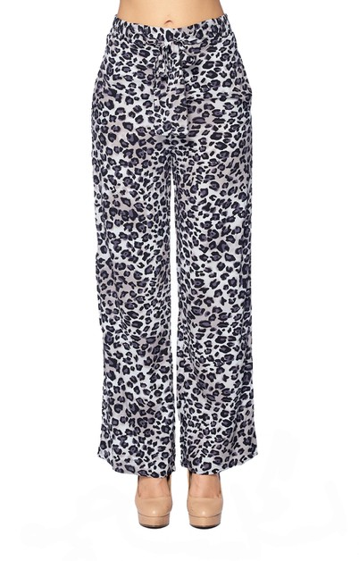 LEOPARD ANIMAL PALAZZO PRINT PANTS - orangeshine.com