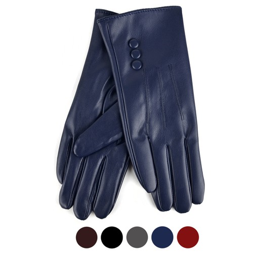 Women PU Leather Winter Gloves - orangeshine.com