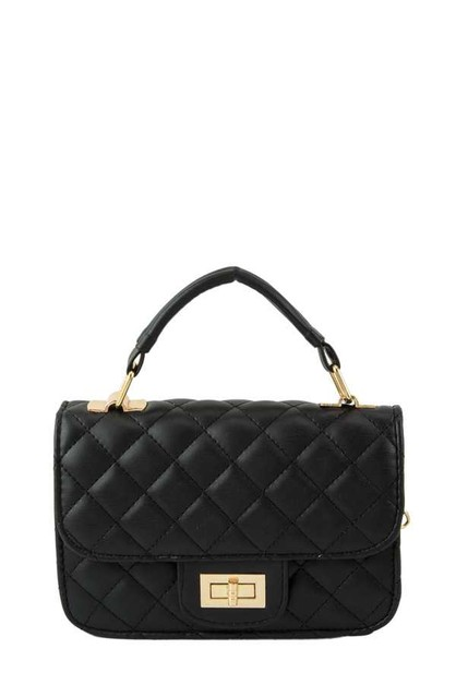 Quilted Square Crossbody Bag  - orangeshine.com