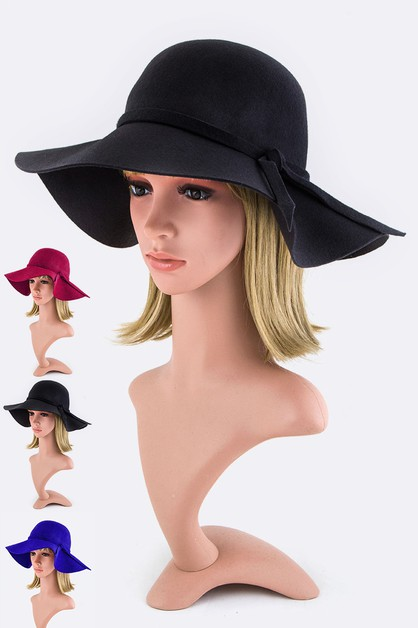 Skinny Bow Fashion Floppy Hat - orangeshine.com