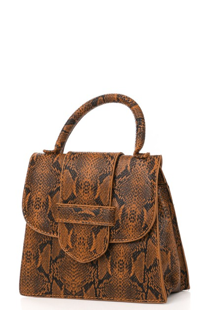 Animal Print Square Fashion Bag - orangeshine.com