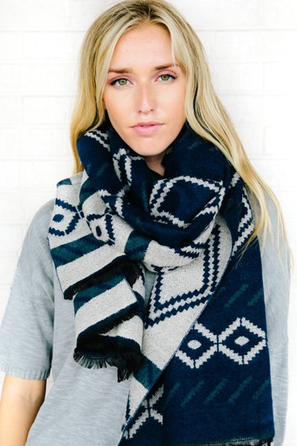 Aztec Pattern Sweater Scarf - orangeshine.com