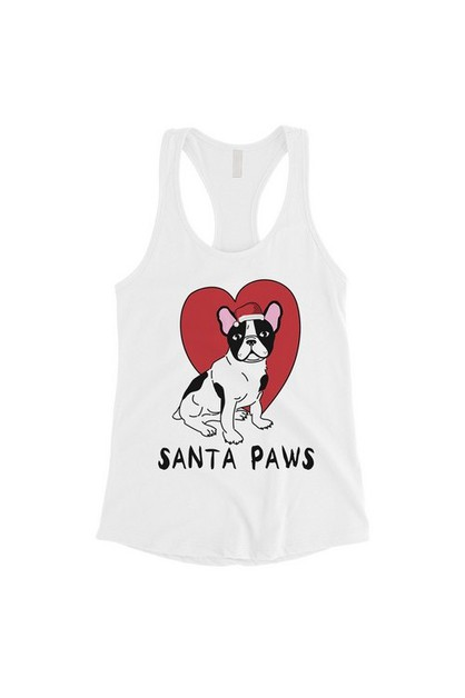 Santa Paws French Bulldog Tank Top - orangeshine.com