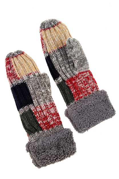 CHUNKY KNIT COMFY WINTER GLOVE  - orangeshine.com