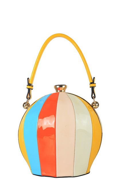 MULTI COLOR BALLOON SATCHEL BAG - orangeshine.com