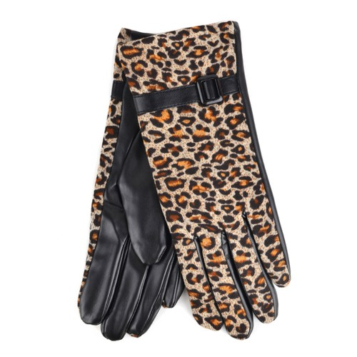 Women Leopard Print Winter Gloves - orangeshine.com