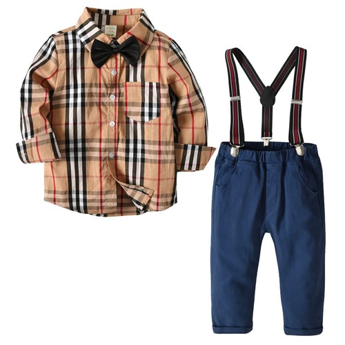 Boys plaid Outfit set - orangeshine.com