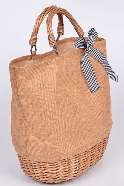 Basket Like Tote Bag - orangeshine.com