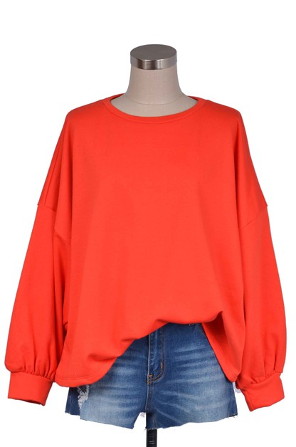 WIDE AND FREE OVERSIZED TOP - orangeshine.com