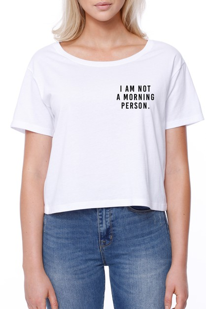 Not a Morning Person Boxy Tee - orangeshine.com