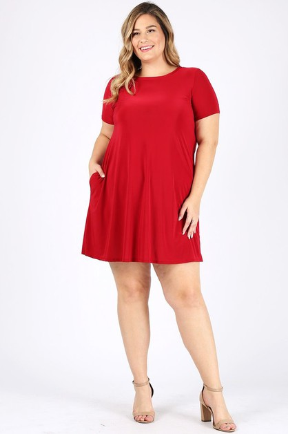 Pocket Swing Dress  - orangeshine.com