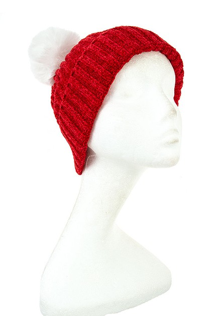 FASHION POM POM BEANIE - orangeshine.com