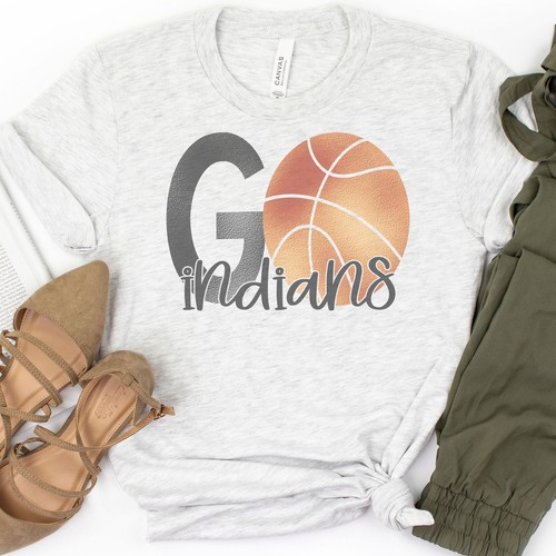 Personalized Go Basketball Tee - orangeshine.com