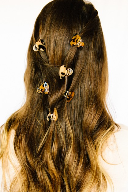 Abstract Heart Tortoise Hair Claws - orangeshine.com